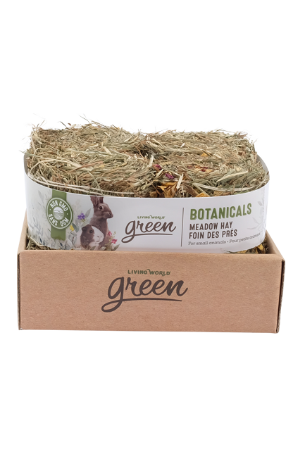 Botanicals Meadow Hay – 4-Pack Mini Bales, Herb & Flower Mix
