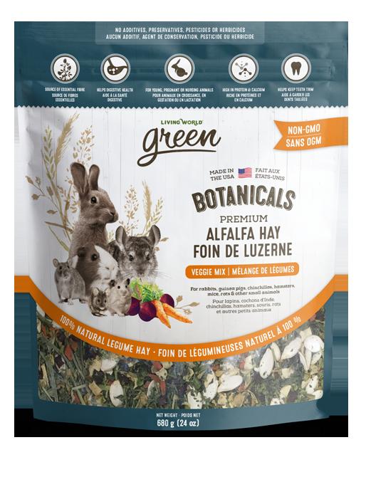Botanicals Premium Alfalfa Hay – Veggie Mix