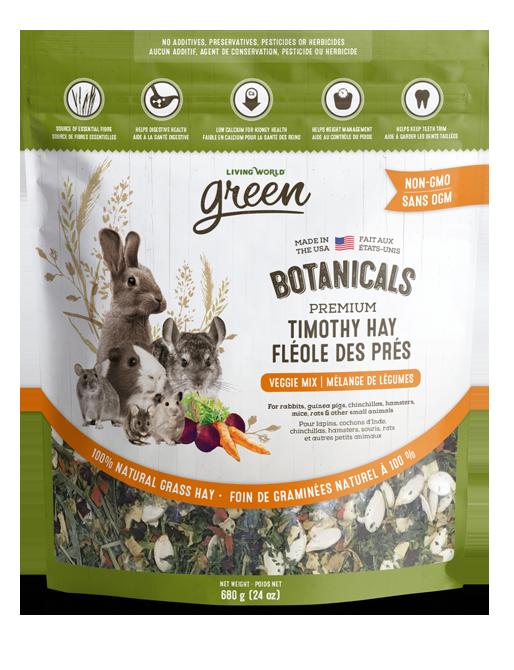 Botanicals Premium Timothy Hay – Veggie Mix